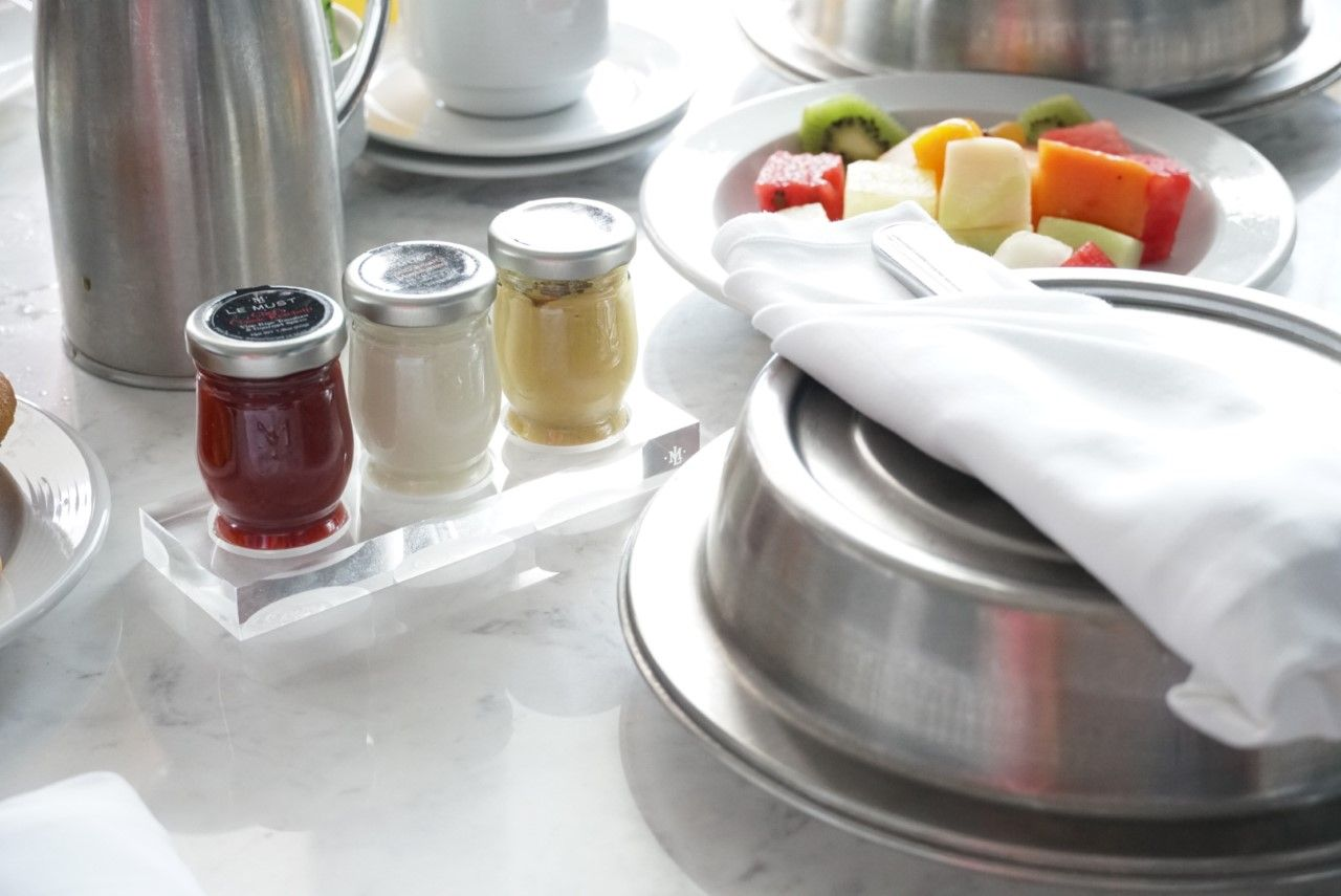 lemust room service individual portion sauces