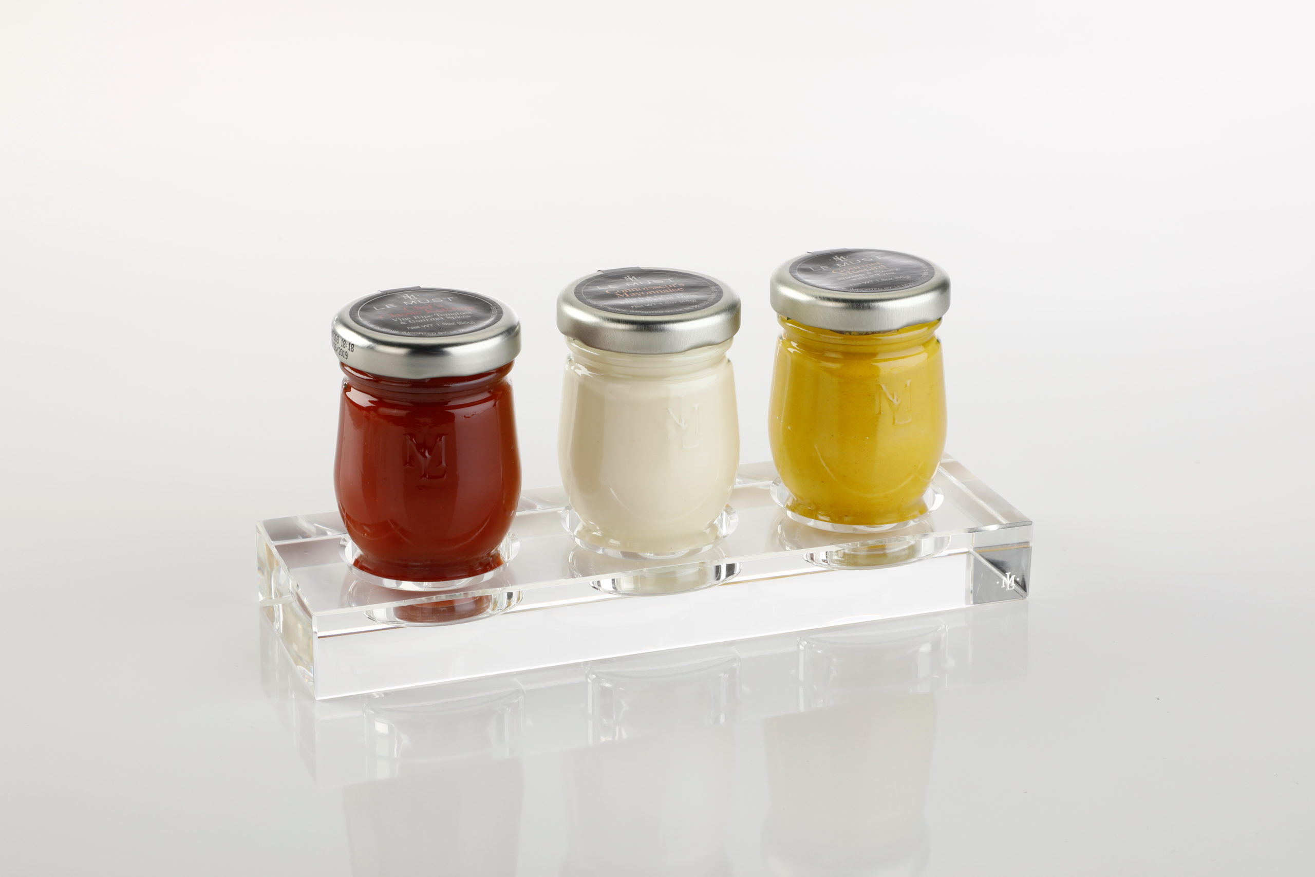 lemust Room service 3 condiments cristal display