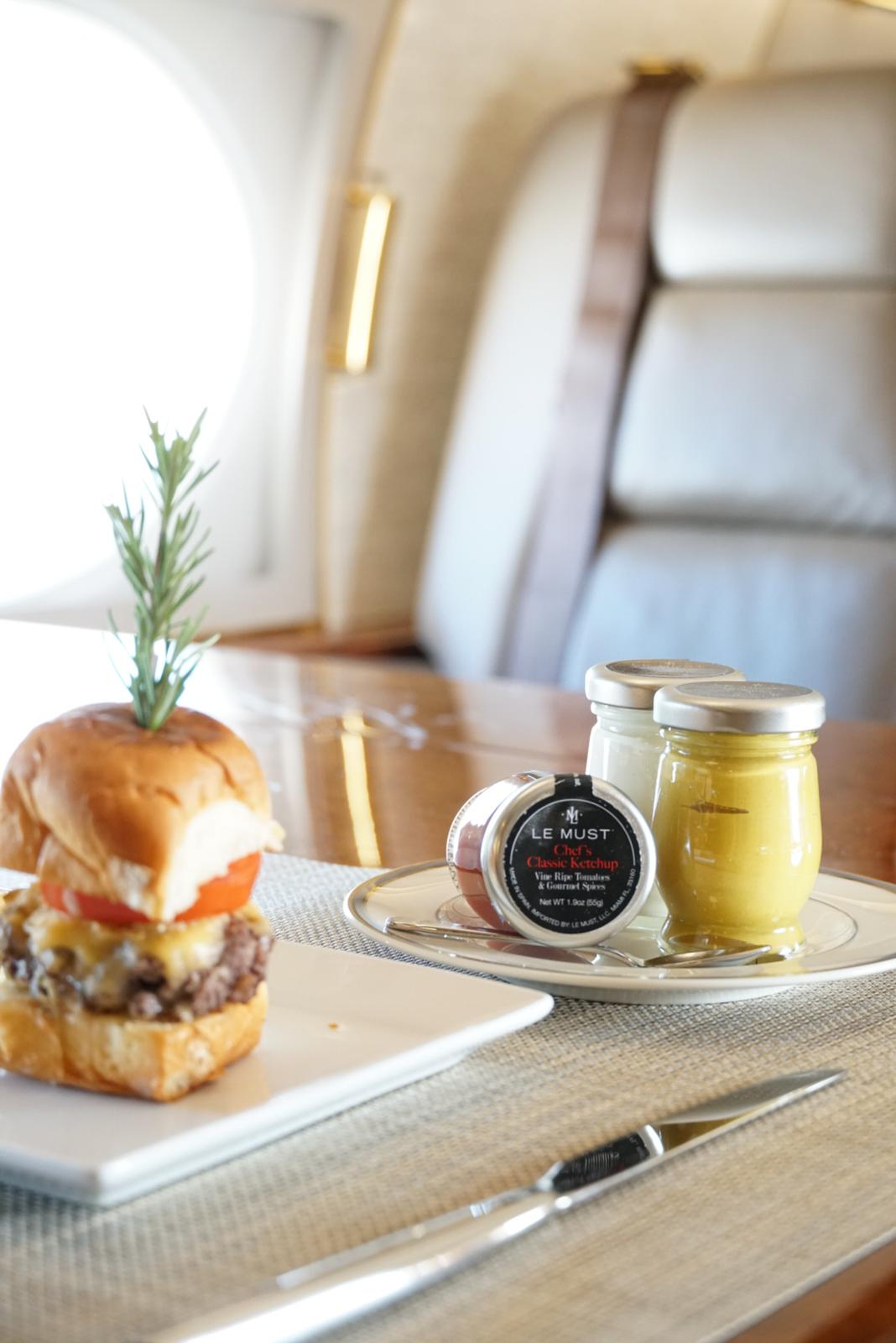 Le Must luxury condiments for private aviation
