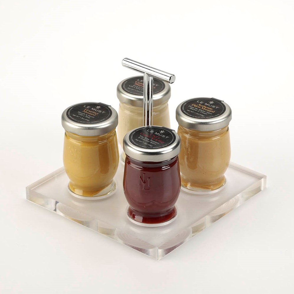Le Must Carre Condiment Presentoir Display for in room dining