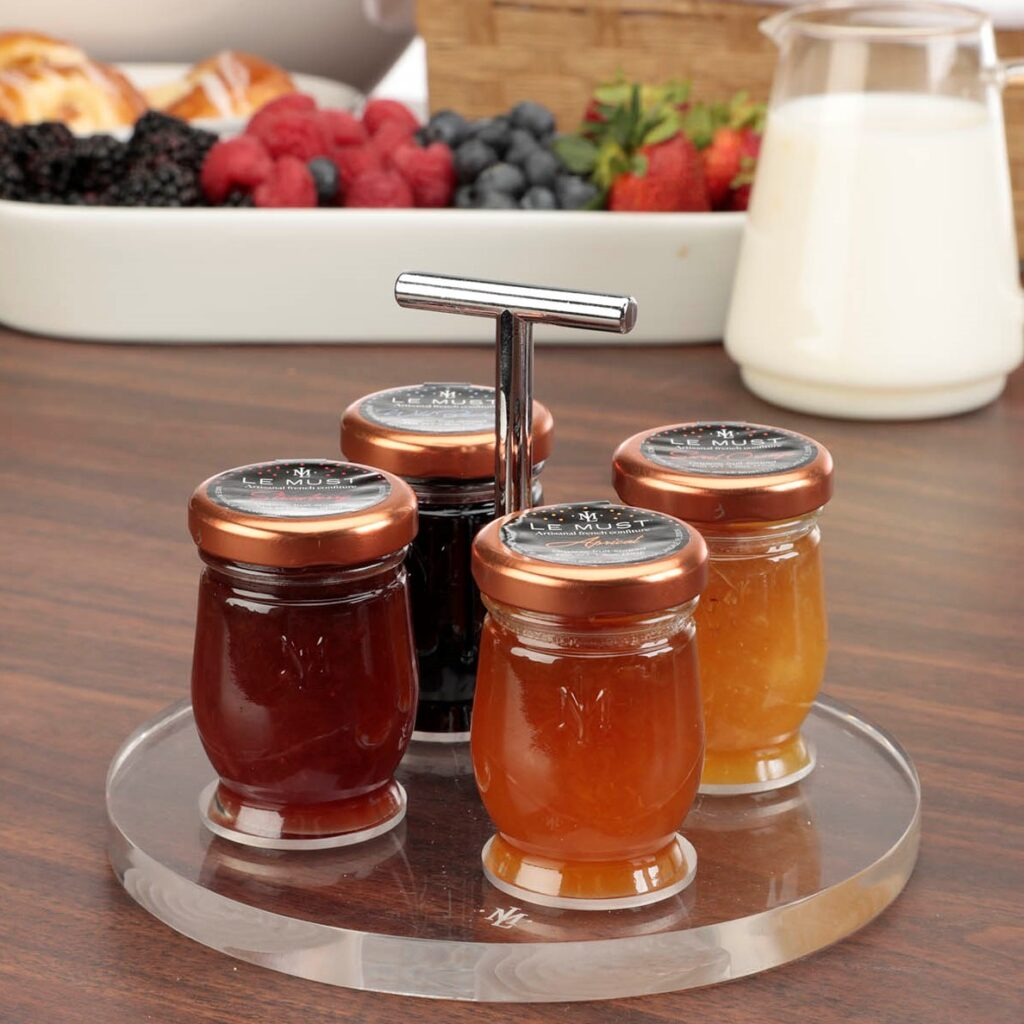 Le Must Cercle Preserves and Honey Presentoir Display for in room dining Lifestyle