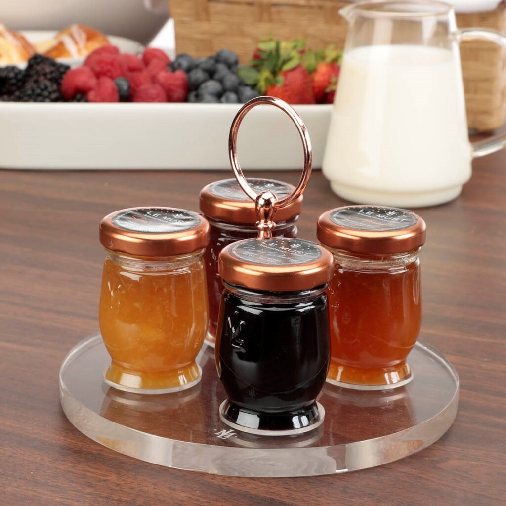 Le Must Cercle Preserves and Honey Presentoir Display with Copper Handle for in room dining Lifestyle