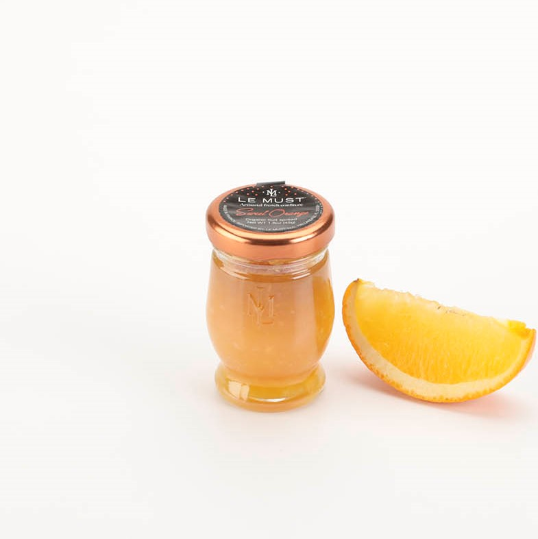 Le Must Organic Single Serve Orange Marmalade Luxury In Room Dining with Fruit