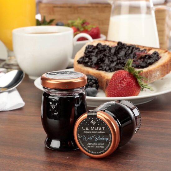 Le Must Organic Single Serve Wild Blueberry Preserve Luxury In Room Dining Lifestyle